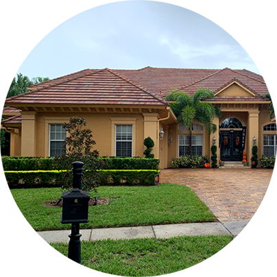 Receive estimate roof cleaning